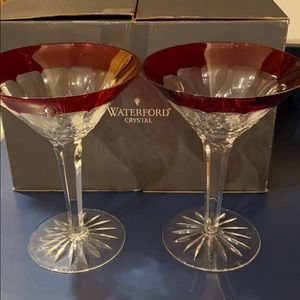 Waterford Crystal Simply Red Martini Glasses